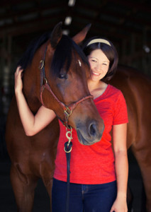 Michelle and her Anglo Arab, Firefly